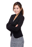 Business woman. Isolated on white background Stock Photo