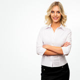 Business woman, isolated on white background Stock Images