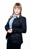 Business woman in a jacket and shirt Stock Images