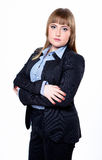 Business woman in a jacket and shirt Royalty Free Stock Photos