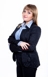 Business woman in a jacket and shirt Stock Image