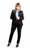Business woman in a jacket and shirt Royalty Free Stock Image