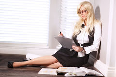 Business woman. Jobs,business leader Stock Image
