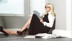 Business woman. Jobs,business leader stock footage