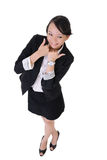 Business woman with joy and smiling expression Royalty Free Stock Photos