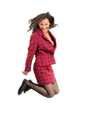 Business woman jumping Royalty Free Stock Photo