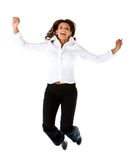 Business woman jumping Stock Photos