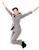 Business woman jumping Royalty Free Stock Images