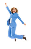 Business woman jumping Stock Image