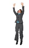 Business woman jumping of joy Stock Photography
