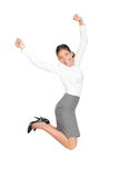 Business woman jumping in success Royalty Free Stock Photography