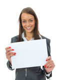 Business Woman Keeps Sheet Stock Images