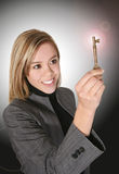 Business Woman with Key Stock Photos