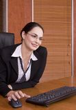 Business woman keyboard Royalty Free Stock Photos
