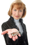 Business woman with keys Stock Image