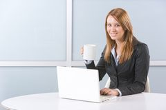 Business woman laptop Stock Photo