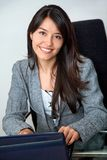 Business woman on a laptop Stock Photo
