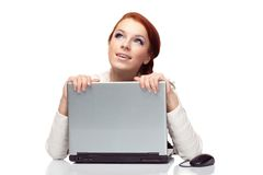 Business woman with a laptop. Stock Images