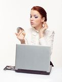 business woman with a laptop Stock Photo