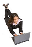 Business woman on laptop Royalty Free Stock Images