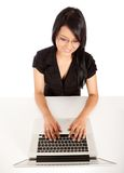 Business woman with a laptop Royalty Free Stock Photography
