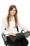 business woman with laptop Royalty Free Stock Image