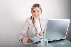 Business Woman On A Laptop Royalty Free Stock Photography