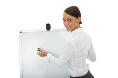 Business woman and laptop Royalty Free Stock Photos
