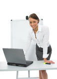 Business woman and laptop Stock Photo