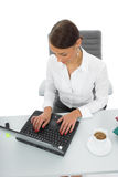 Business woman and laptop Royalty Free Stock Photo