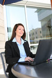 Business Woman on Laptop Royalty Free Stock Photos