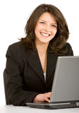 Business woman on a laptop Royalty Free Stock Photo