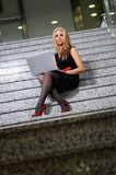 Business woman laptop Stock Photos