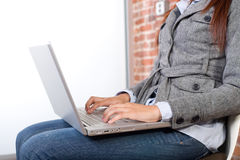 Business woman laptop Stock Images