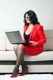 Business woman with laptop Stock Photos