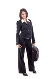 Business woman with laptop bag Royalty Free Stock Photography