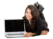 Business woman laptop computer Stock Images