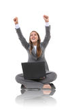 Business Woman Laptop Success Royalty Free Stock Photo