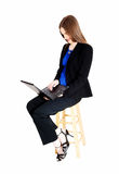 Business woman with laptop. Stock Photography