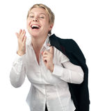 Business woman laughing Stock Photography