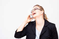 Business woman laughing Royalty Free Stock Photo