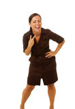 Business woman laughing Stock Image