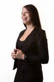 Business woman laughing Royalty Free Stock Photography