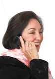 Business woman laughing over the phone Stock Photos