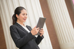 Business woman lawyer watching mobile computer Stock Photos