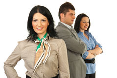 Business woman leader Stock Photo