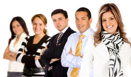 Business woman leading a group Royalty Free Stock Photo