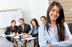 Business woman leading a team Stock Images