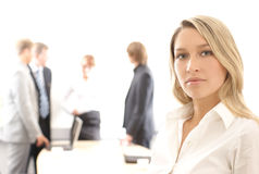 Business woman leading a team Royalty Free Stock Photography