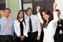 Business woman leading a team Royalty Free Stock Photo